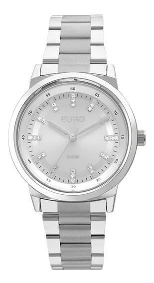 Relógio Euro Feminino Prata Com Strass Eu2036ylh/3k