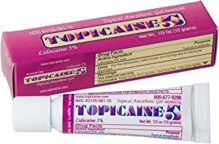 Topicaine 5 - Net Weight 1/3 Oz (10 Grams) Lidocaine Anesthe