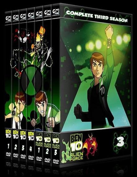 Dvd Ben 10 - Série Clássica + Alien Force + Filmes