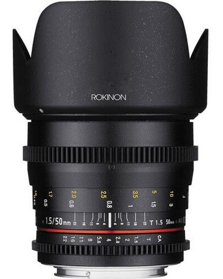 Lente Rokinon 50mm T1.5 P/ Nikon