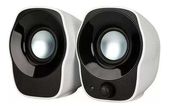Caixa De Som Logitech Z120 Usb Branco/preto
