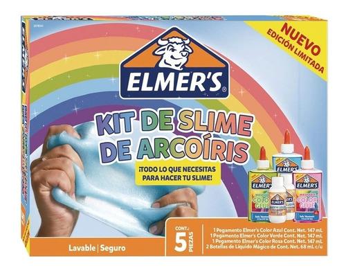 Kit Slime Elmers Arcoiris Completo + 10 Charms De Regalo !!