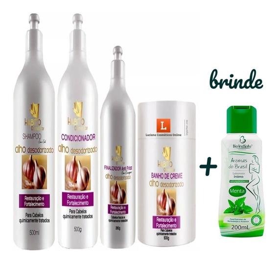 Kit Tratamento Alho Desodorizado Habito Cosmeticos Promoção