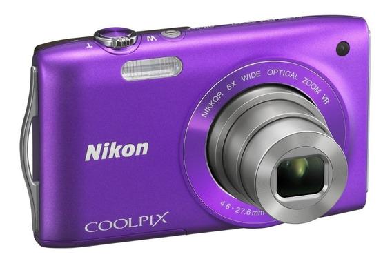 Câmera Digital Nikon Coolpix S3500 Roxo - 20.1 Mp, Lcd 2,7