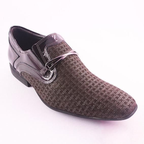 Sapato Masculino Calvest Marrom Social Sport Fino