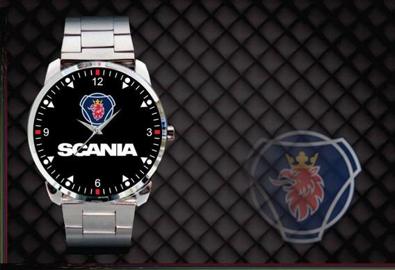 Relógio De Pulso Personalizado Logo Scania Caminhão Onibus