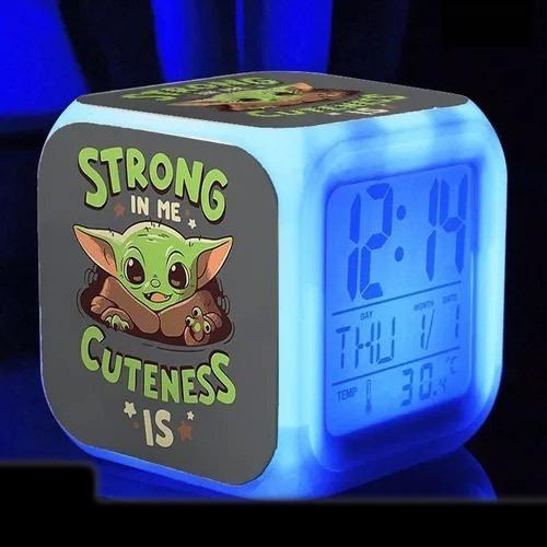 Reloj Led Alarma Despertador   Baby Yoda   Zombear