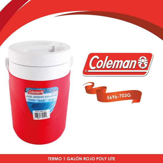 Termo De 1 Galon Poly Lite Rojo Coleman 3000000865