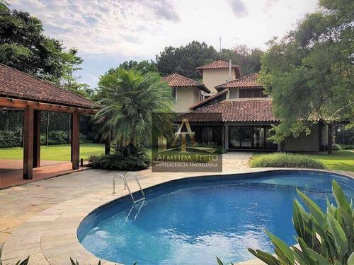 Imagem 1 de 30 de Excelente Casa À Venda No Jardim Mediterrâneo, Cotia. Com 5 Suítes, 9 Vagas, Gourmet E Planejados! - Ca2560