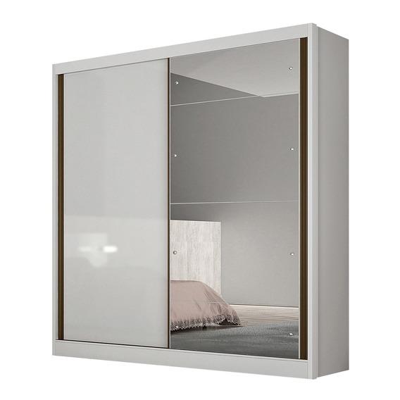 Guarda Roupa Novo Horizonte C/espelho 2 Portas Correr Branco