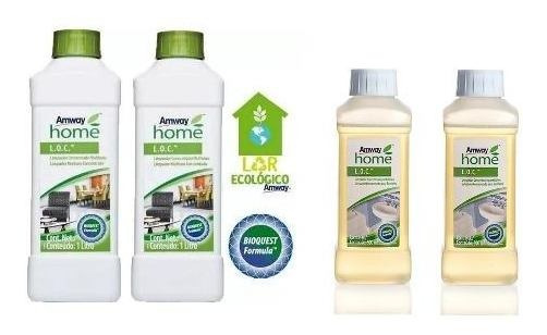 Kit Limpeza Casa 2 Und Loc Limpador + 2 Limpa Banheiro Amway