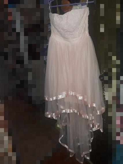 Vestido De Graduación, Color Rosa Pastel, Muy Bonito.