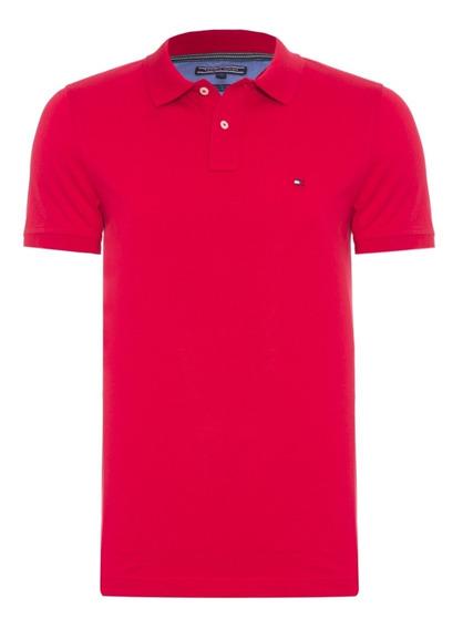 Camisa Polo Tommy Hilfiger Masculina Slim Fit - Promoção