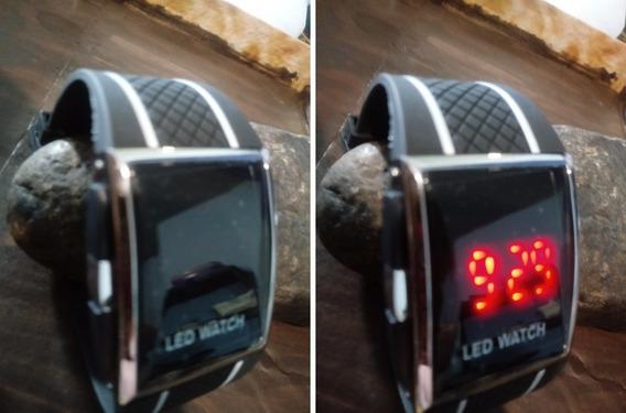 Relógio Unisex Digital Preto Led Watch