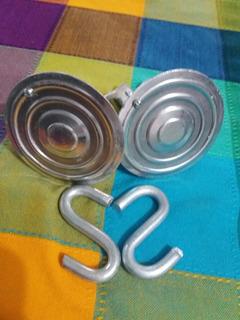 4 Hamaqueros Clásicos Metálicos Con Tapa Incluye Ganchos S