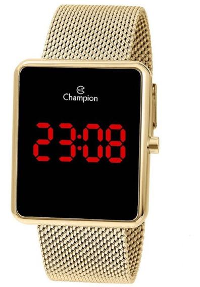 Relógio Champion Unissex Digital Led Ch40080v Quadrado