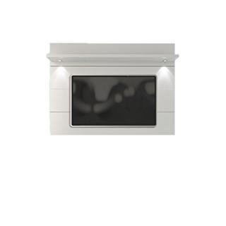 Manhattan Comfort Cabrini Microfibra Blanco Brillante