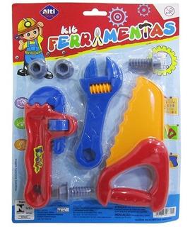 Kit Ferramenta Infantil Com Serrote E Acessorios 7 Pecas*-*