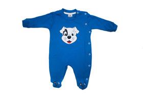 Macacão Infantil Masculino Cachorrinho - Baby Bee-azul-escur