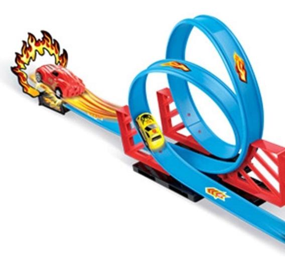 Pista Duplo Looping Brinquedo Infantil Similar Hotwheels