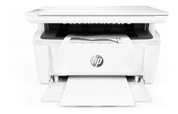 Impressora a cor multifuncional HP LaserJet Pro M28W com Wi-Fi 110V branca