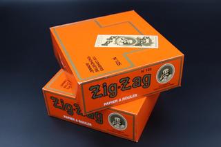Caja De Papel Zig Zag N. 125 Naranja Con 100 Pzas. Francés