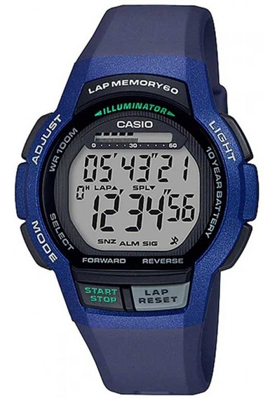 Relógio Casio Masculino Digital Esportivo Azul Prova D