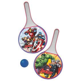 Conjunto De Frescobol - Marvel - Avengers -vermelho E Branc