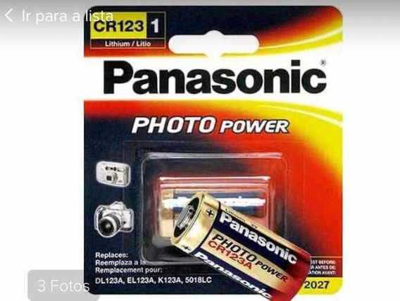 Kit Com 50 Pcs Bateria Panasonic Photo Cr 123 A 3v Lithium