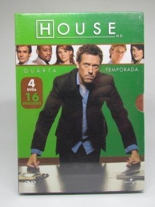 Dvd Série House 4ª Temporada 4 Discos Com Luva Lacrado