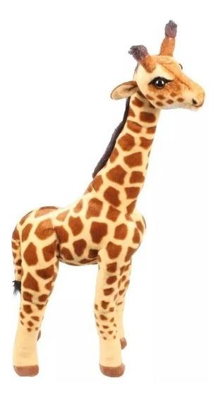 Girafa Pelúcia Bicho Selvagem Safari Grande 64 Cm/