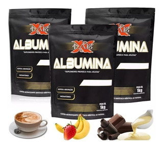 3x Albumina 1kg Diversos Sabores - X-lab