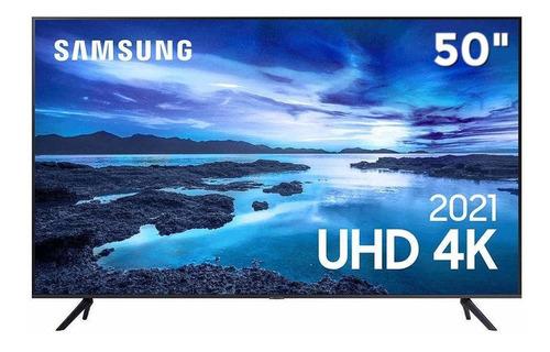 Imagem 1 de 7 de Smart Tv 4k 50 Samsung Uhd Led Un50au7700gxzd Hdr