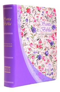Biblia Mediana Violeta Flores Letra Mayor Reina Valera 1960