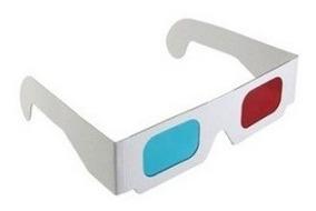 160 Óculos 3d Movie Dvd Vermelho + Azul - Frete Grátis