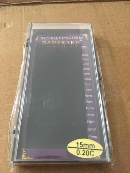 Extensiones De Pestañas Mink Marca Nagaraku .20c15mm