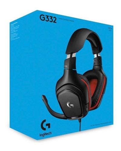 Diadema Gamer Logitech G332, Estéreo Para Pc, Ps4, Xbox One