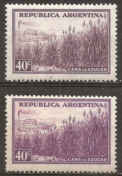 Argentina 378 Gj 758 Esp. 502/502a Mint/nuevo Resto Bisagra
