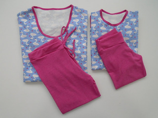 Pijama Legging Em Algodão Com Elastano.