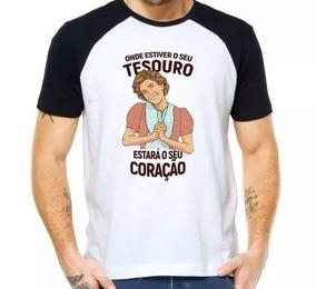 Camiseta Raglan Onde Estiver Seu Tesouro Dona Florinda Chave