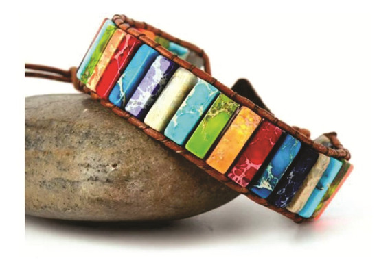 Pulsera Ajustable Piedra Natural Multicolor Regalo Pareja