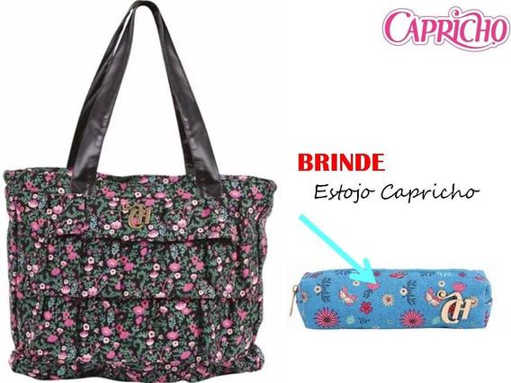 Bolsa Capricho Floral Preto Liberty - Dermiwil + Brinde C
