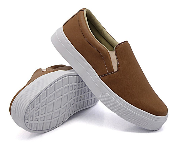 Slip On Tenis Casual Fem Dkshoes Liso Calce Fácil Cores Moda