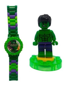 Relógio Digital Infantil Vingadores + Lego Hulk