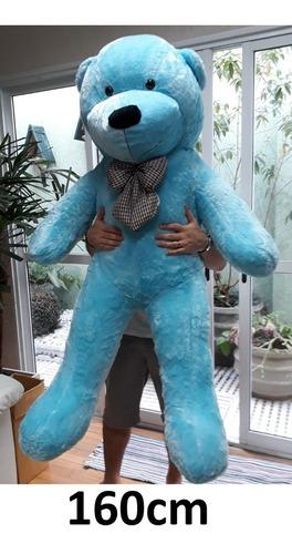 Imagem 1 de 2 de Pelucia Urso Azul Grande Gigante 160 Cm Importado Casa Urso