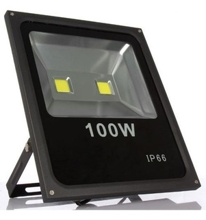 Reflector Led Blanco 100w Ip65 Alta Potencia Exterior Cancha