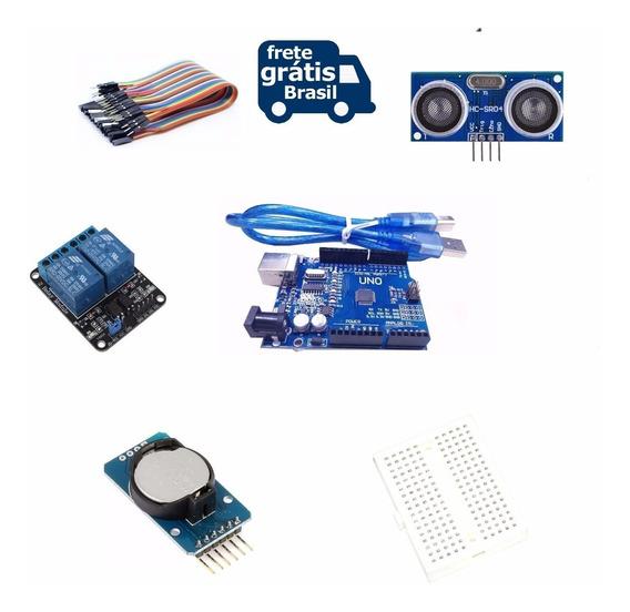 Kit Básico Para Arduino Uno + Sensor +time Clock+ Relé+cabos