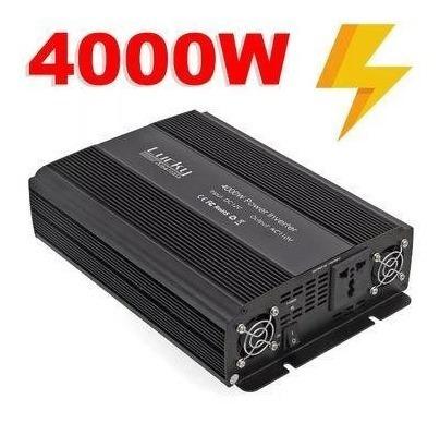Inversor Transformador 4000w 24v 110v 60hz Liga Geladeira