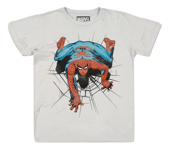Playera The Amazing Spiderman Mascara De Latex Marvel