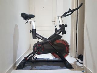 Bicicleta Spinning Indoor Disco 18kg Profesional. Helitec